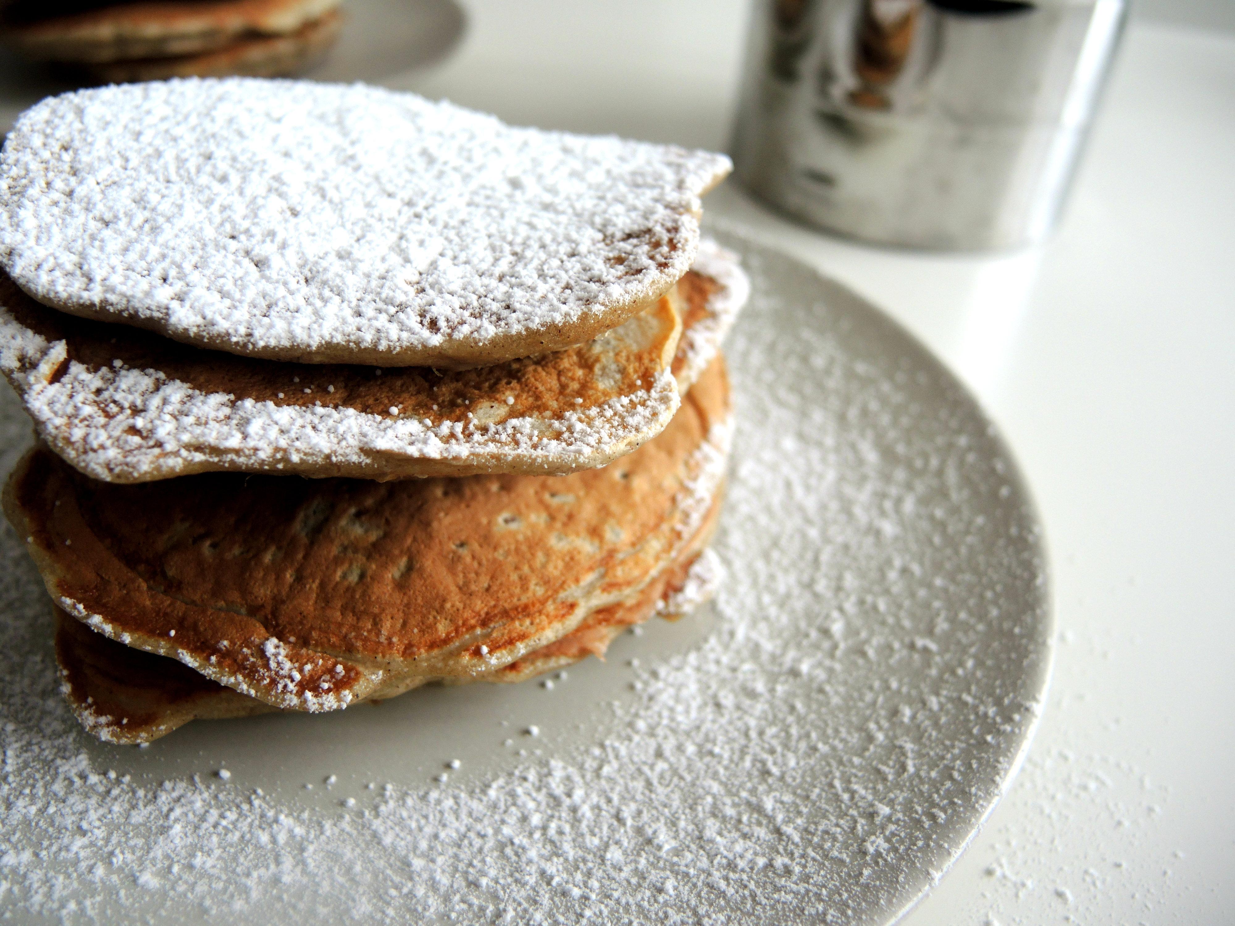Gryczane pancakes z żytnimi otrębami
