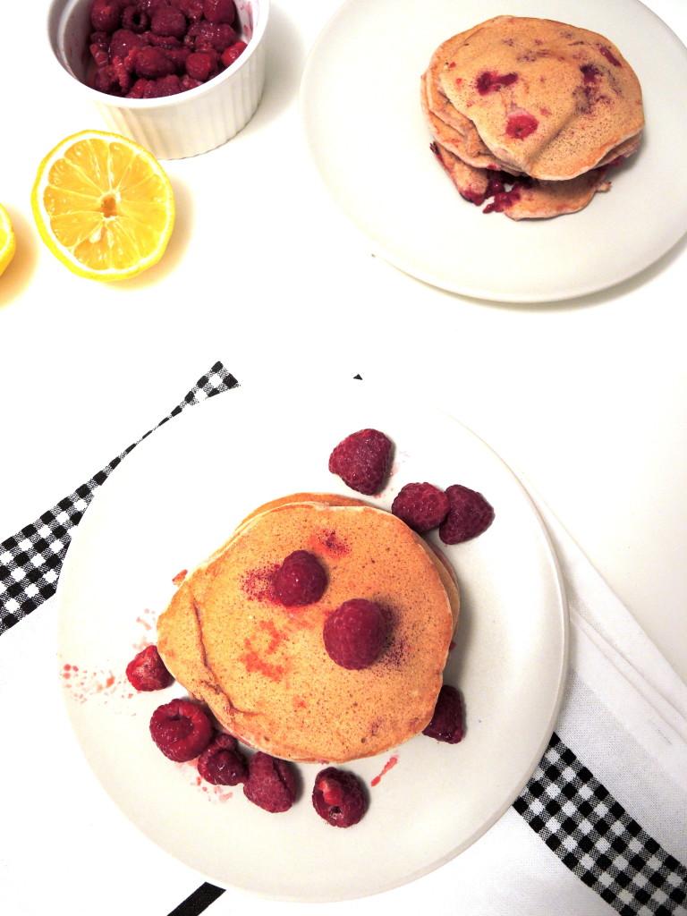 malinowo-cynamonowe pancakes