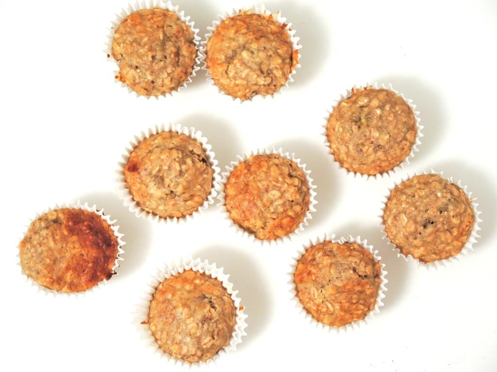 bananowo-owsiane muffinki