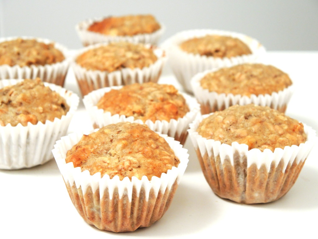 bananowo-owsiane muffinki z orzechami