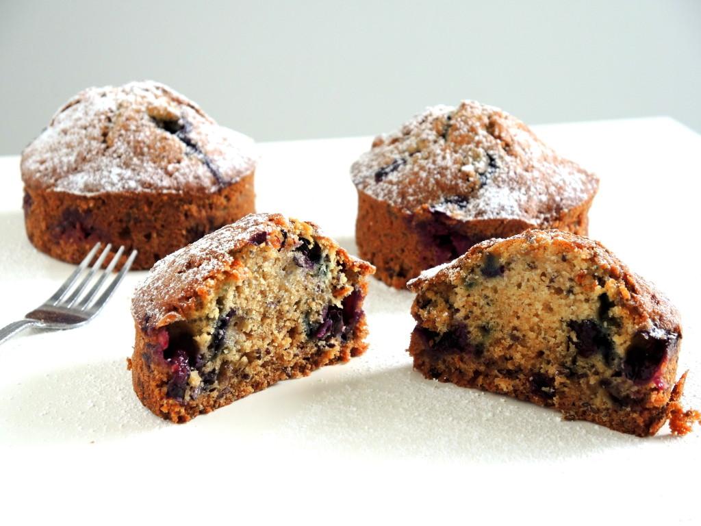 jagodowe muffinki śniadaniowe