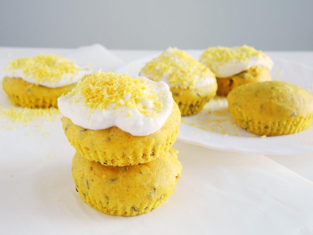 wegańskie muffinki na złotym mleku