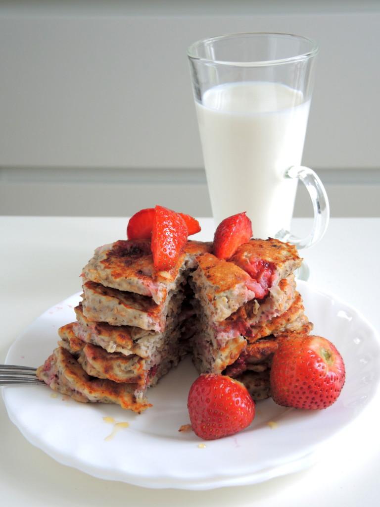 fit bananowe pancakes