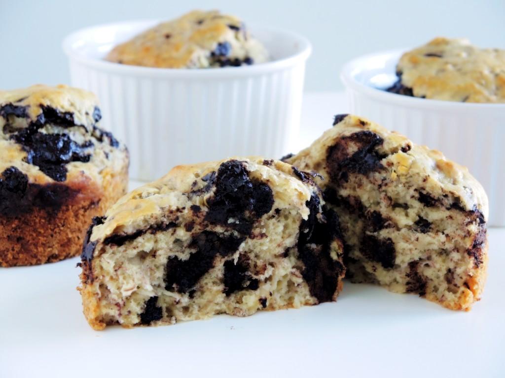zdrowe bananowe muffinki
