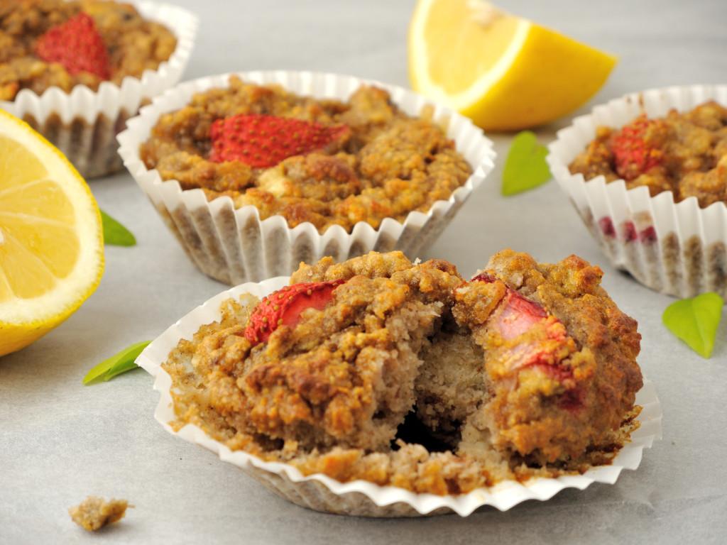 cytrynowo-truskawkowe muffinki