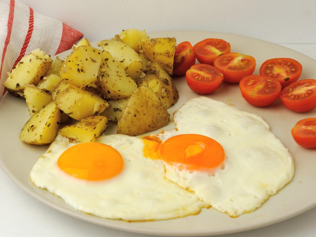 proste śniadanko z ziemniakami