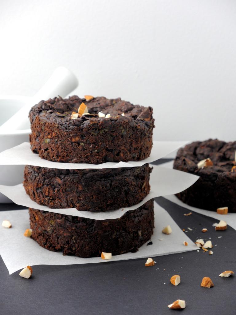 czekoladowo-migdałowe babeczki