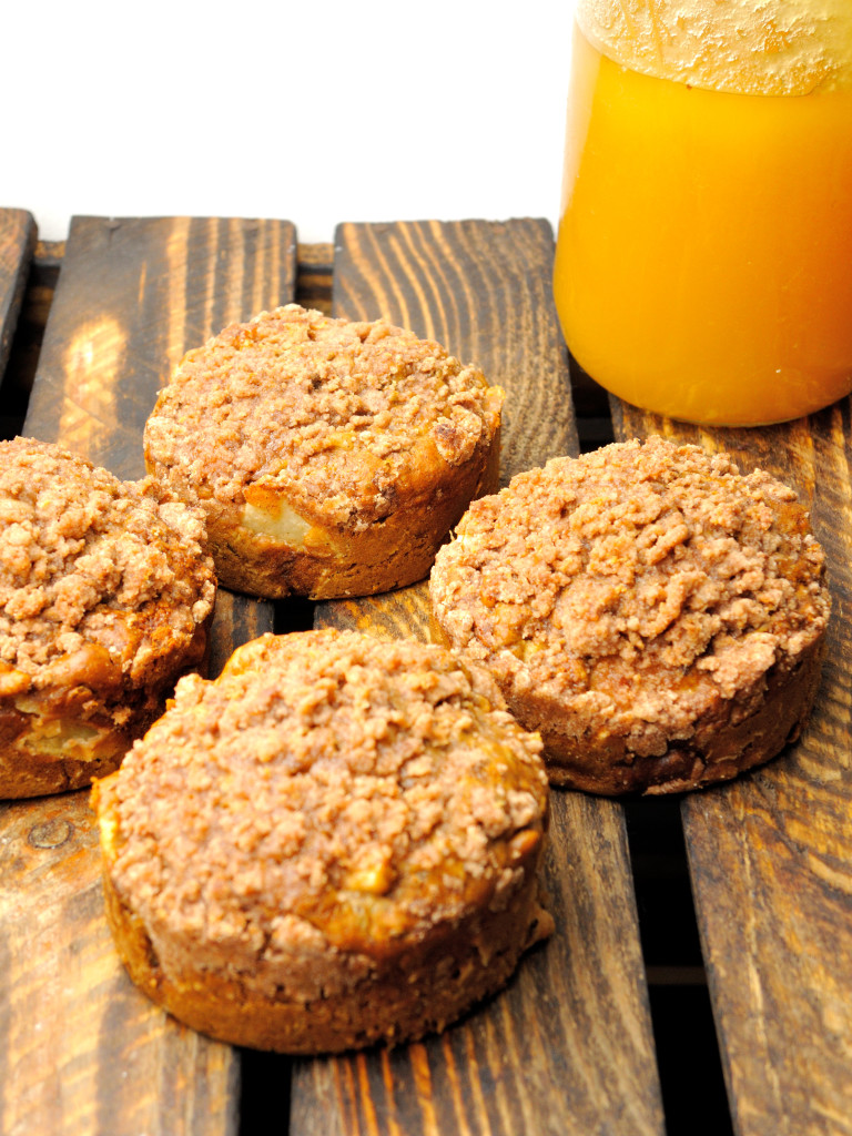 zdrowe cynamonowo-jabłkowe babeczki