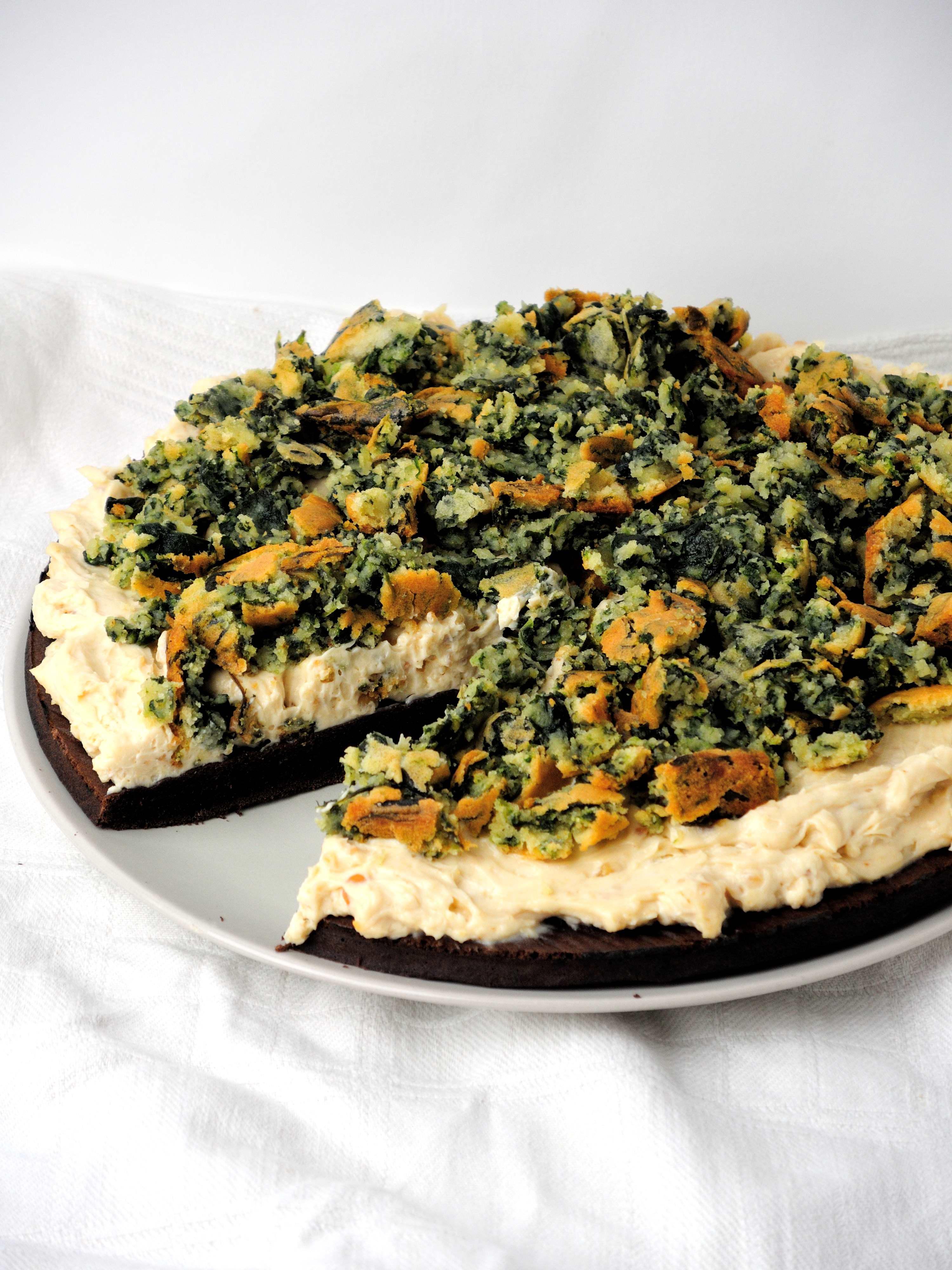 Kakaowo-Orzechowo-Szpinakowe Ciasto