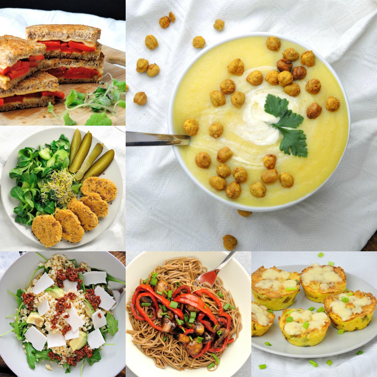 6 pomysłów na wegetariańskie obiady w środku tygodnia