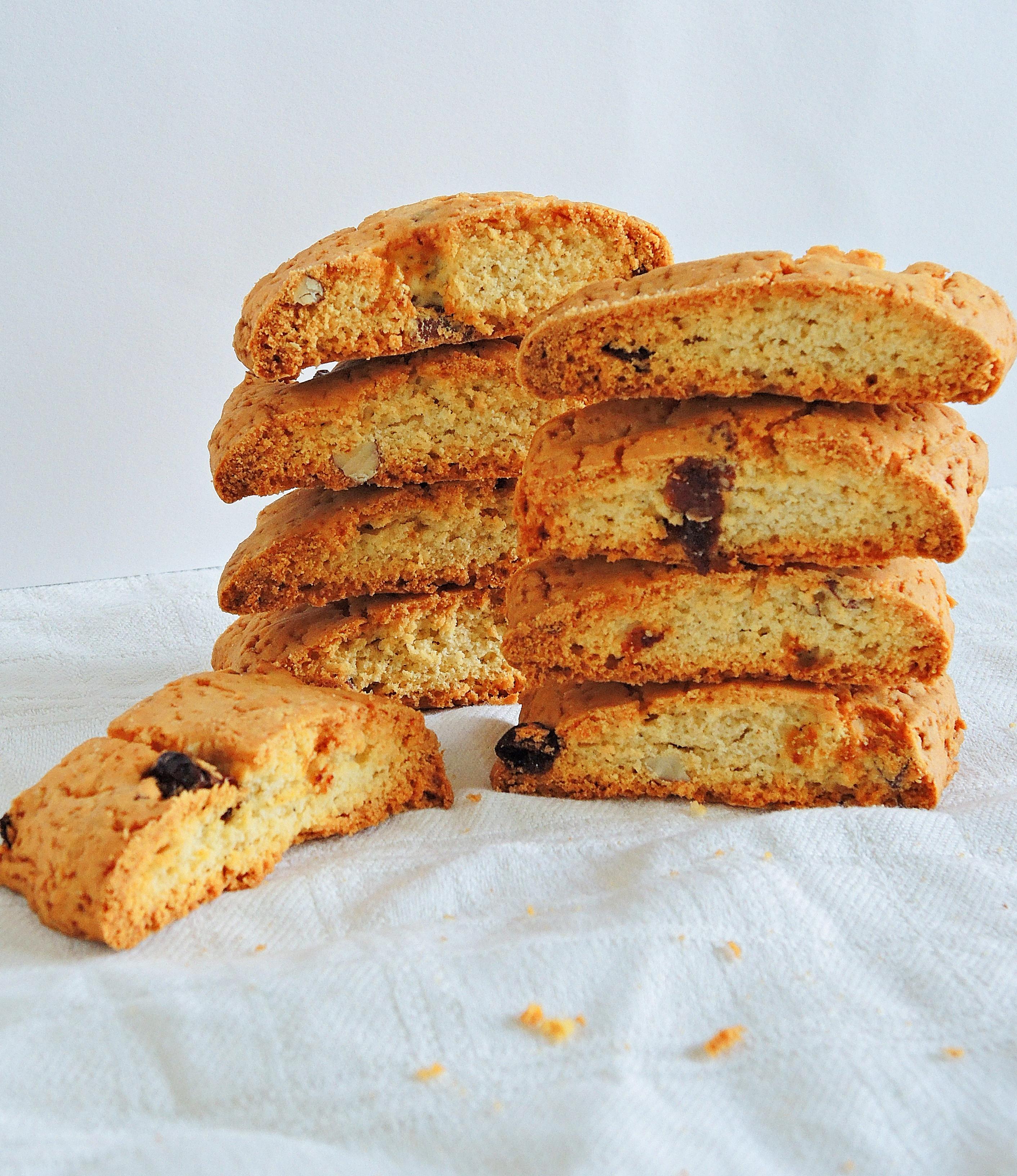 Migdałowe biscotti z miechunką