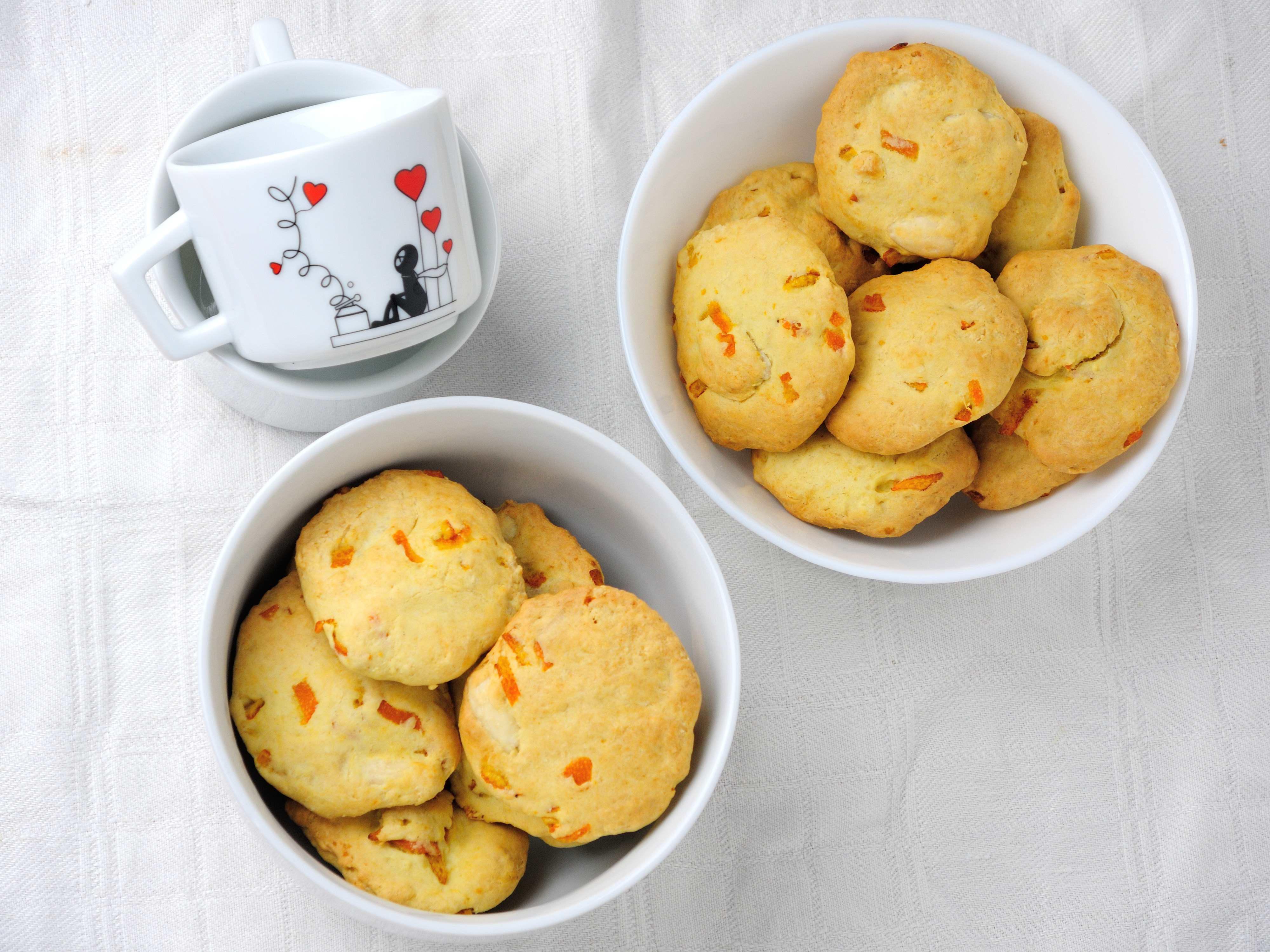 Ciasteczka z Kawałkami Pomarańczy