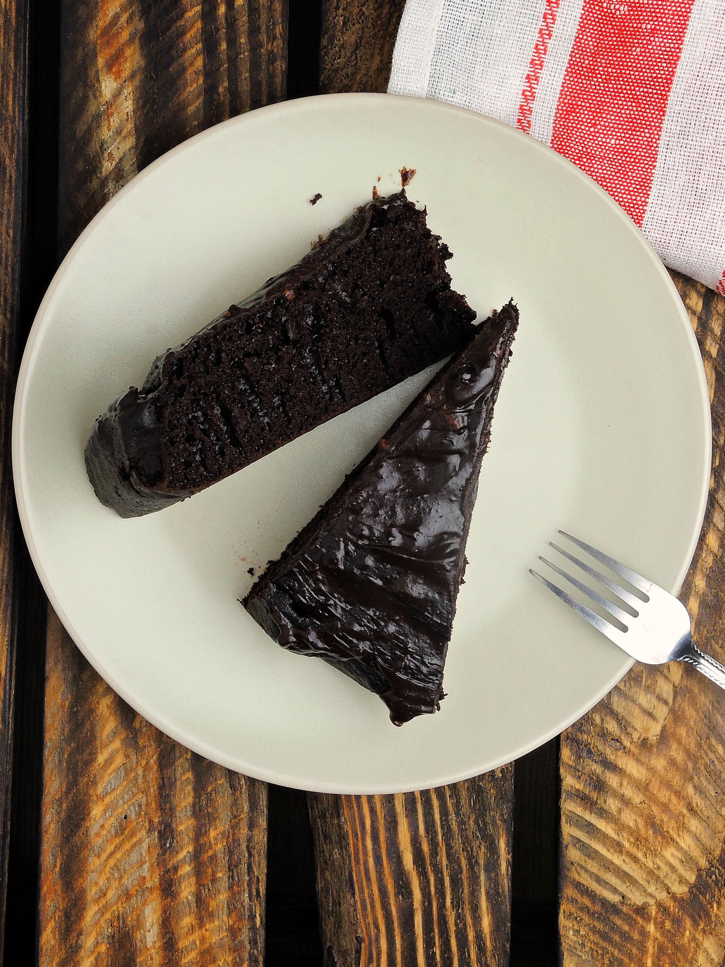 Intensywnie czekoladowe ciasto