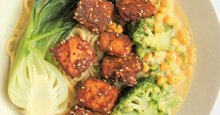 Ramen z chrupiącym tofu