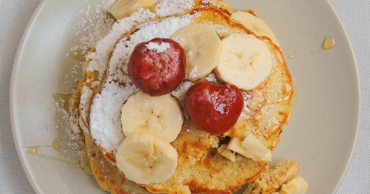 Pancakes z płatkami orkiszowymi