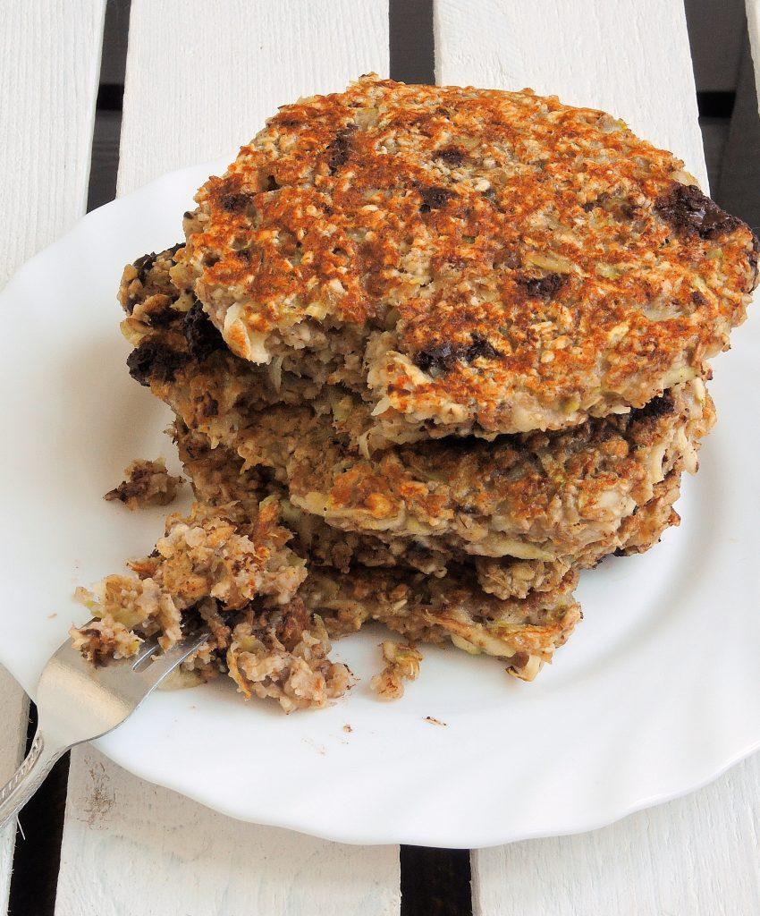 Zdrowe pancakes cukiniowe (bez mąki i cukru, wegańskie)