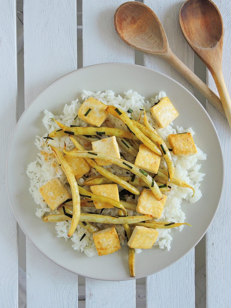Tofu z ostrą fasolką w 15 minut