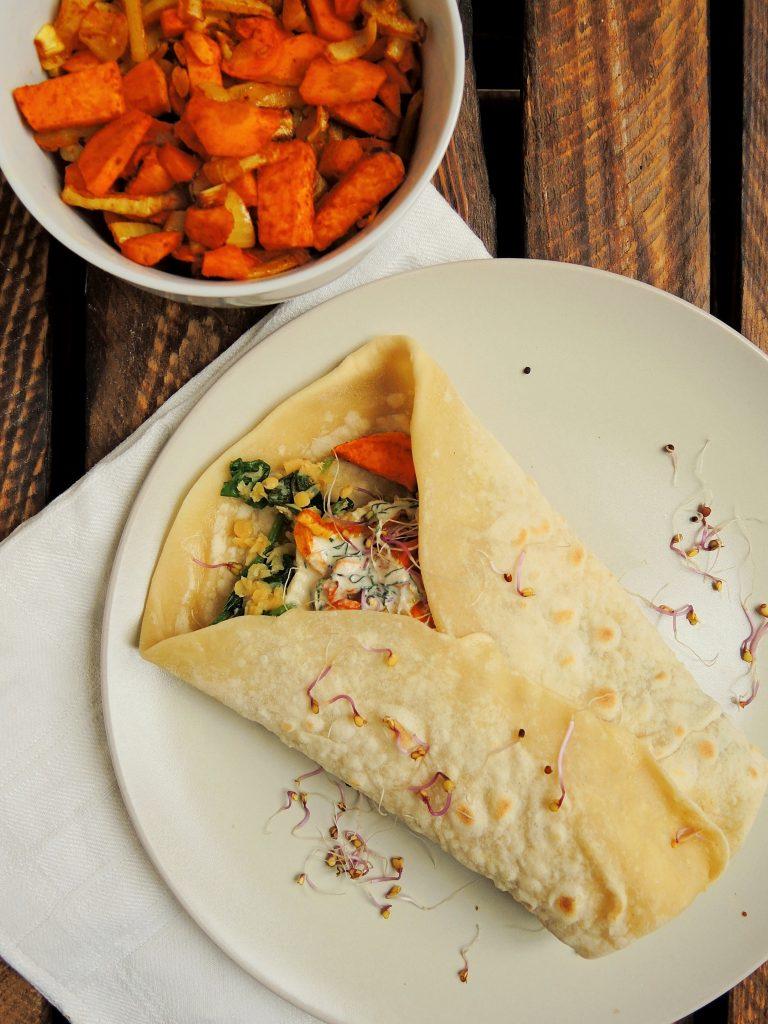 Ostra Tortilla z Batatem i Soczewicą