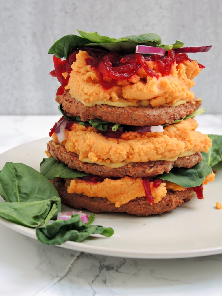 Kolorowe burgery bez bułki