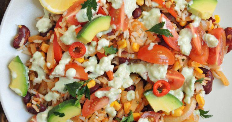 Wegańskie burrito bez tortilli