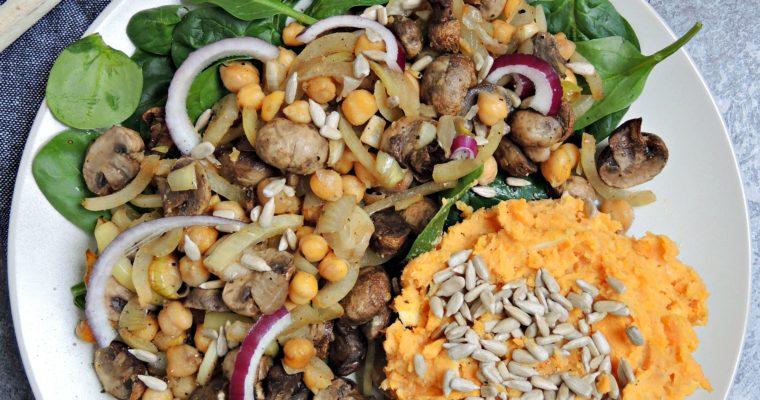 Pieczone warzywa z hummusem