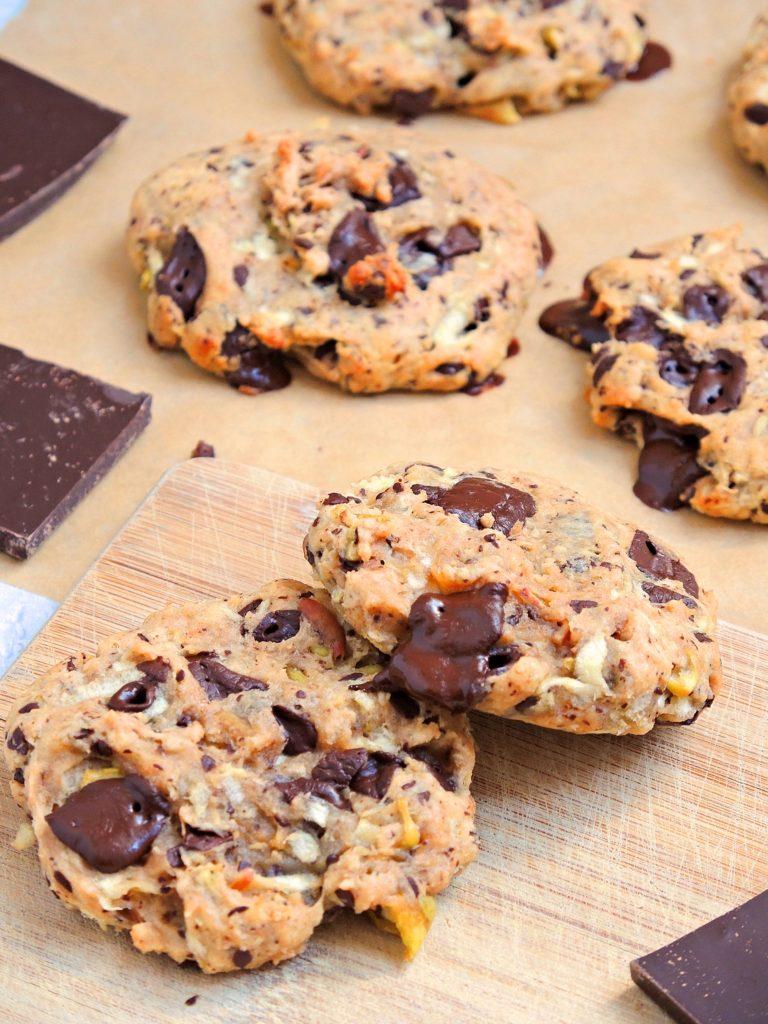 Ciasteczka z czekoladą (wegańskie, bez cukru)