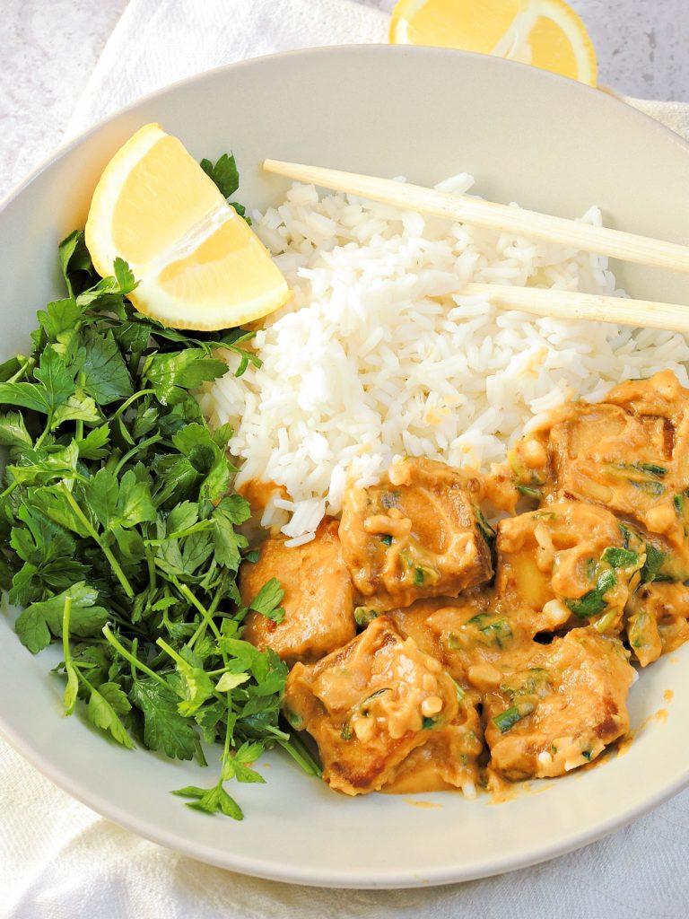 Tofu w Sosie Orzechowym