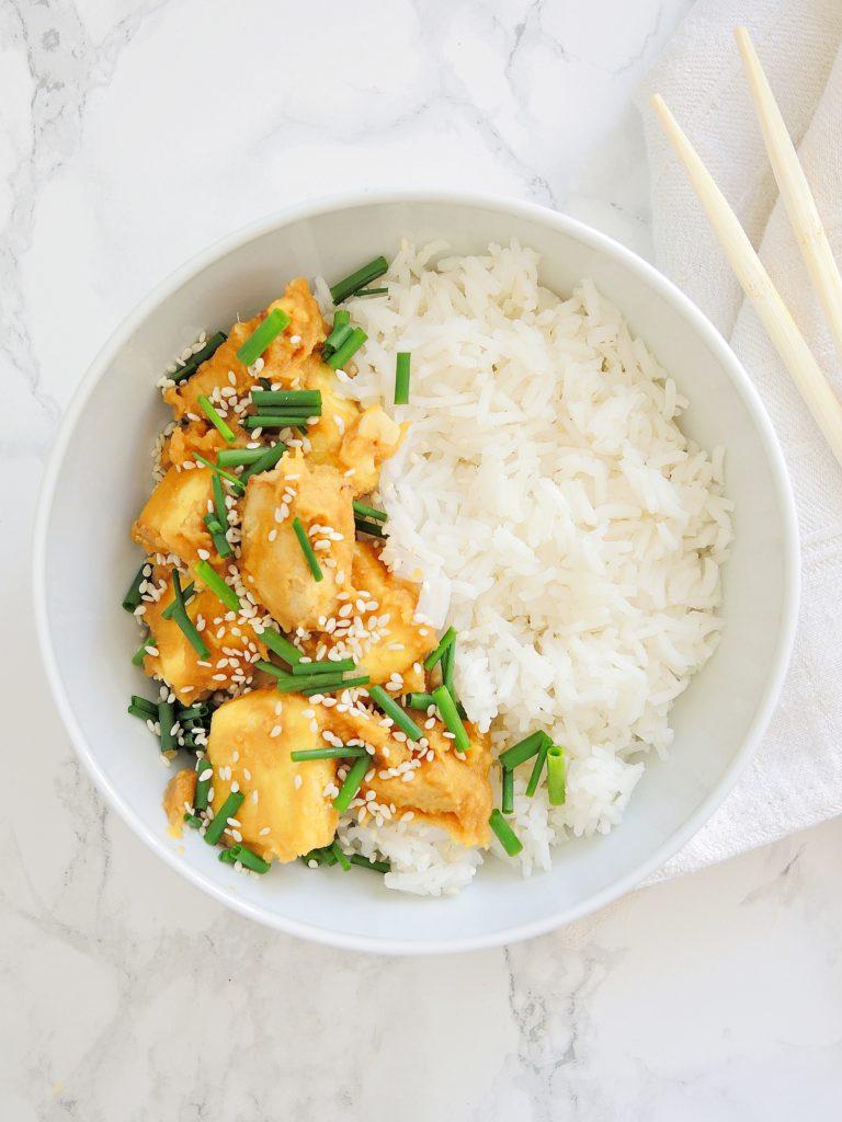 Tofu w Pomarańczowym Sosie