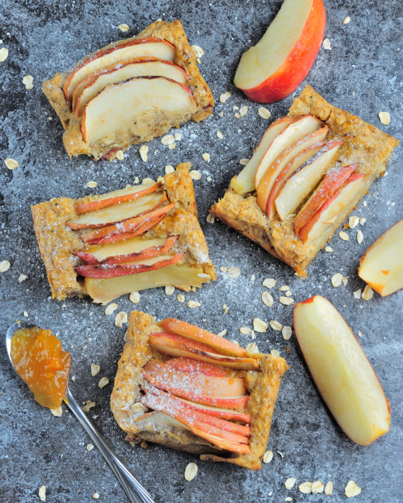 Zdrowe wegańskie ciasto z jabłkami