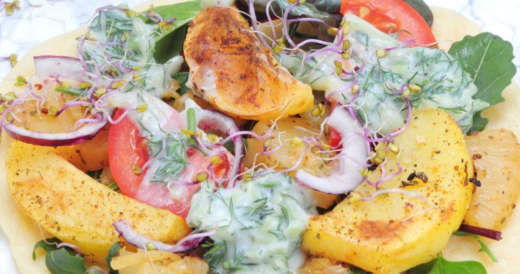 Bezglutenowe, wegańskie wrapy z ananasem