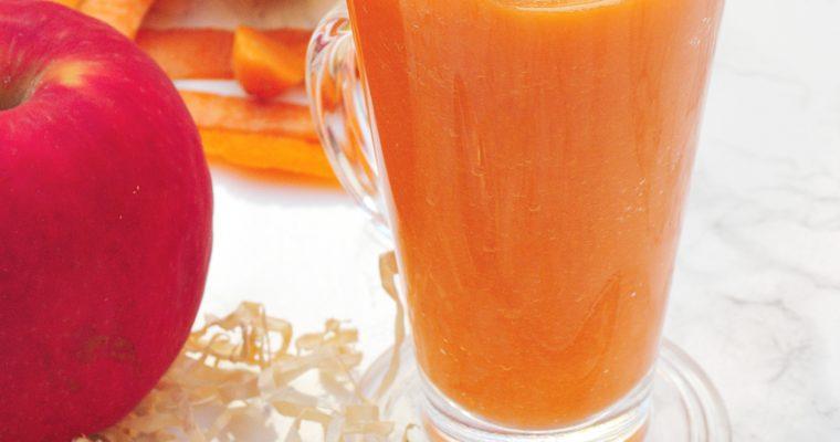 Marchewkowo-jabłkowe smoothie imbirowe