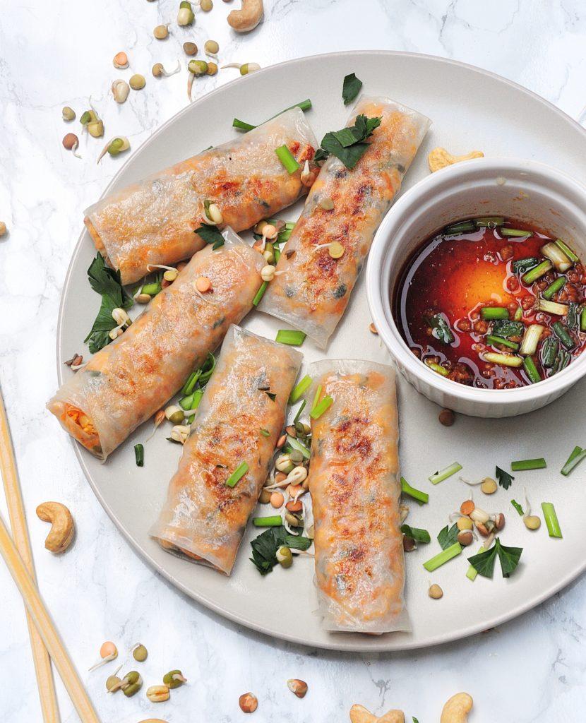 Sajgonki z wędzonym tofu