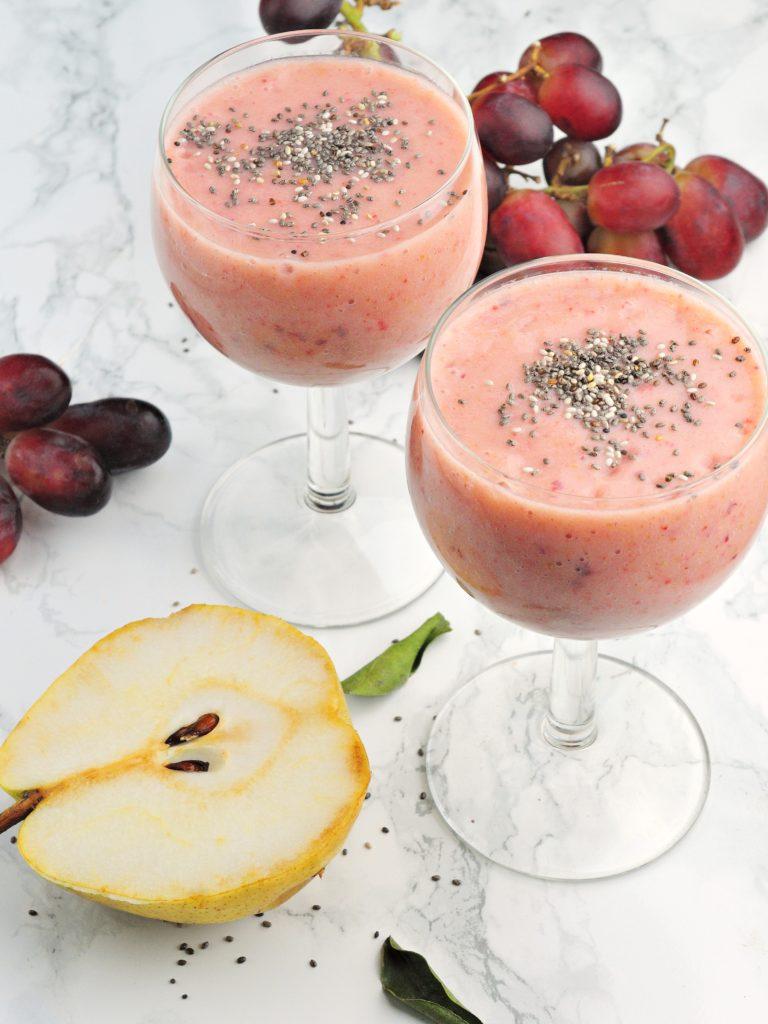 Wegańskie smoothie z winogronami