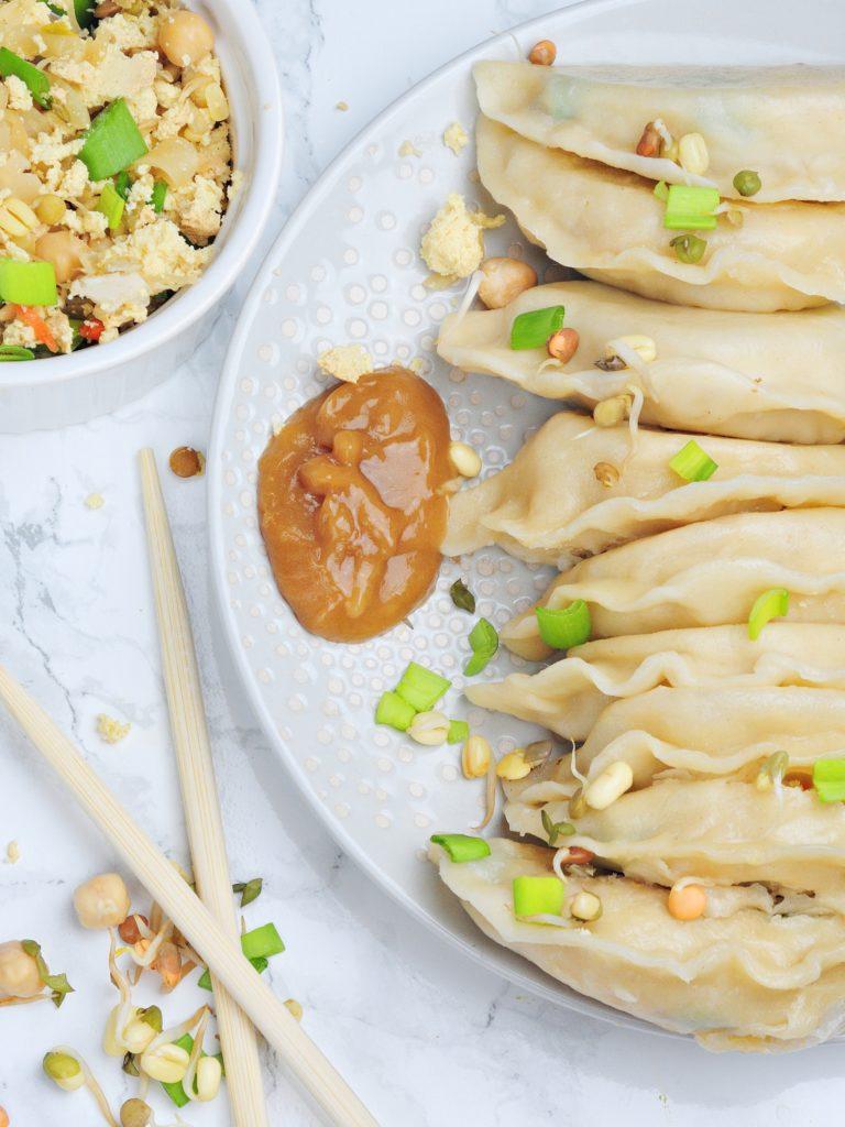Chińskie pierożki z kapustą