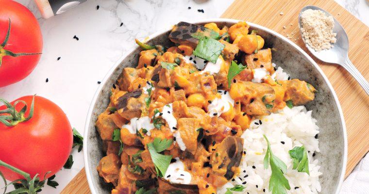 Złote curry z masłem orzechowym