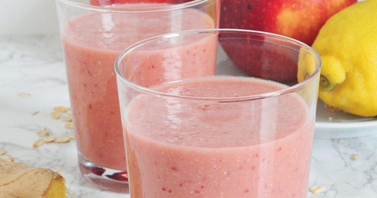 Buraczkowo-jabłkowe smoothie z imbirem