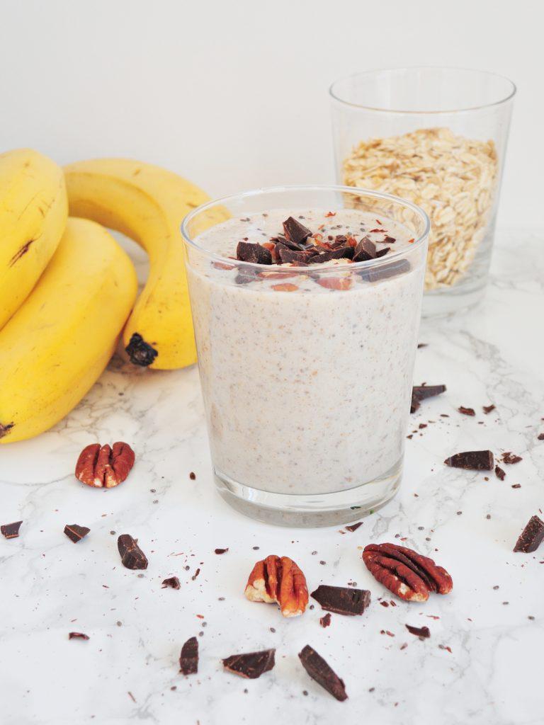 Wegańskie Czekoladowo-Bananowe Smoothie