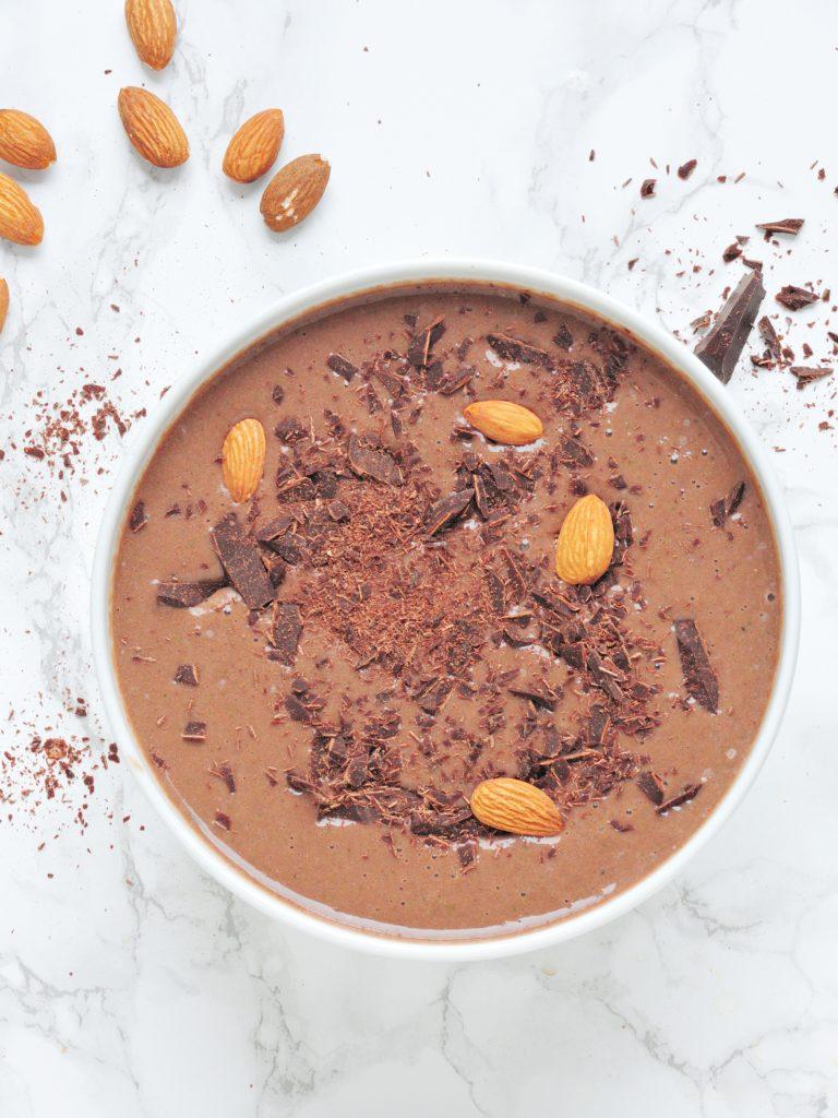 Bananowe smoothie bowl a la nutella