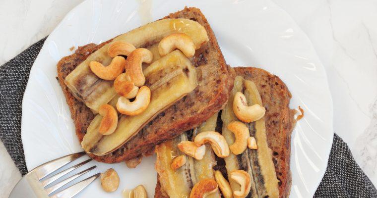Wegański tosty francuskie