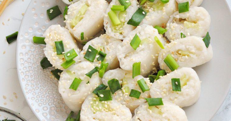 Spring rolls z ryżem w sosie teriyaki