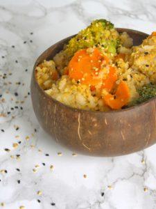 Smażony ryż z warzywami