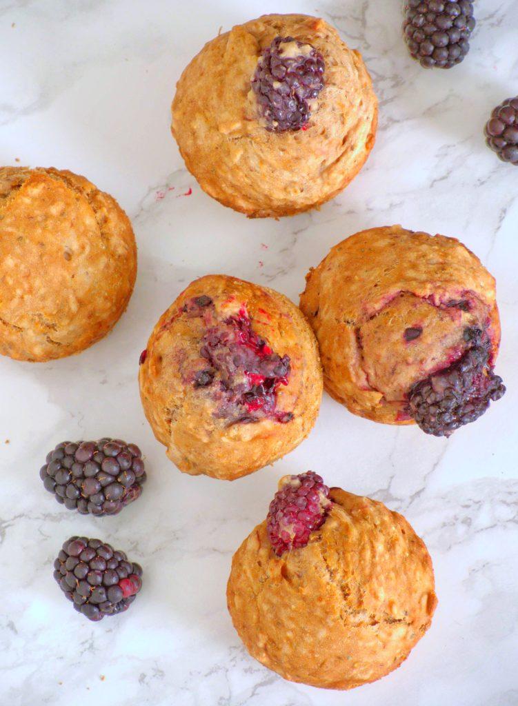Muffinki z jeżynami