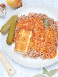 Tofu w sosie węgierskim