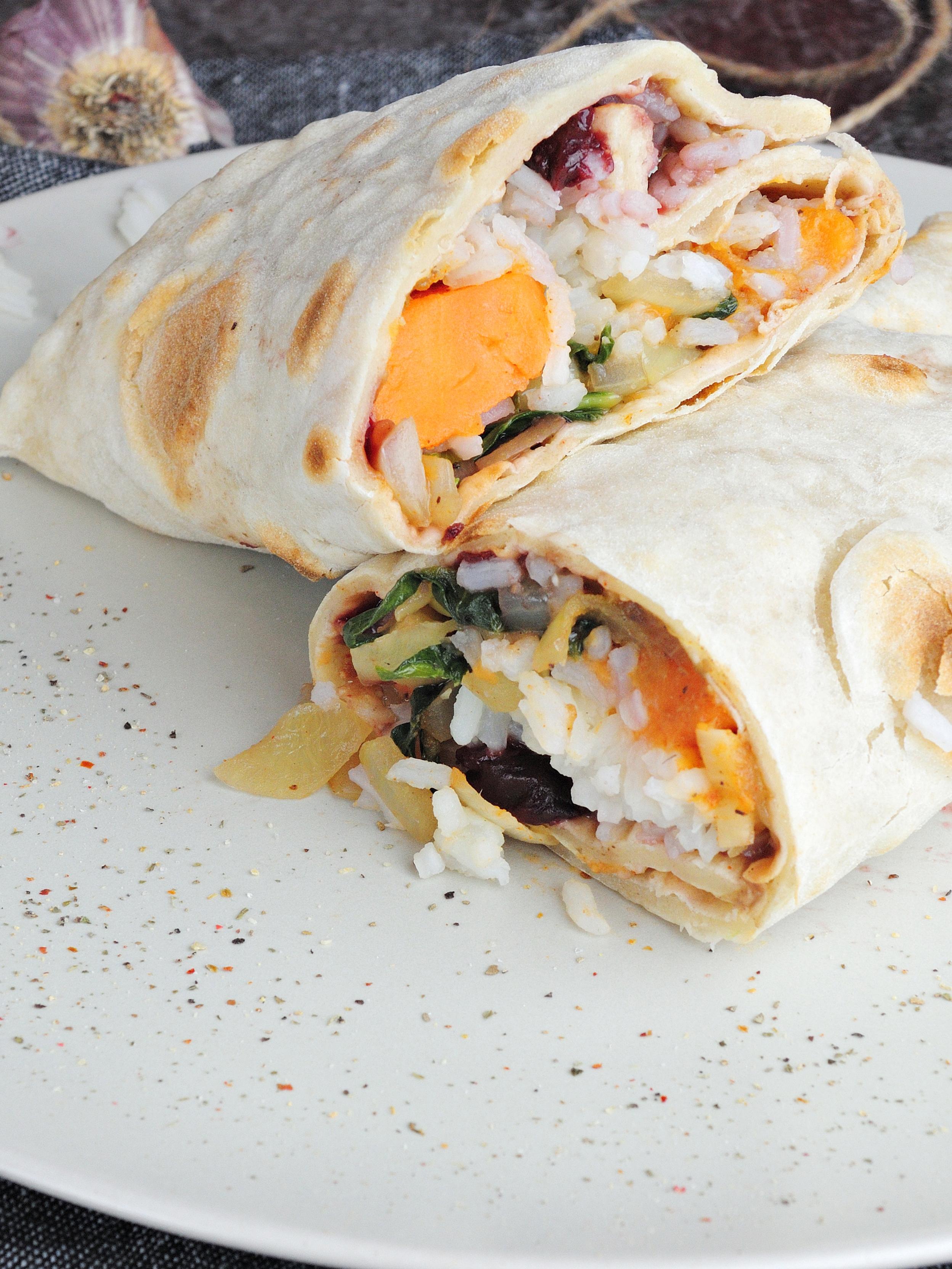 Burrito wrap na wiosnę