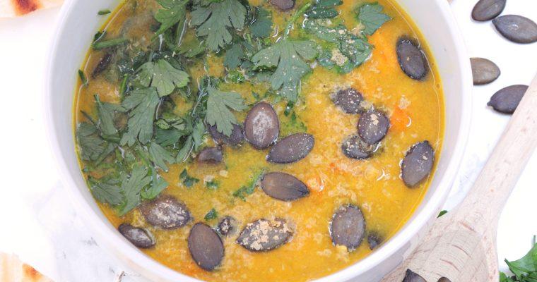 Zupa Batatowa z Soczewicą