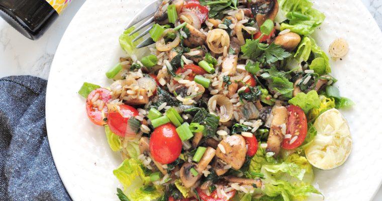 Szybka sałatka tajska z grzybami