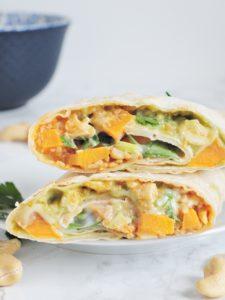 Burrito z batatem i guacamole