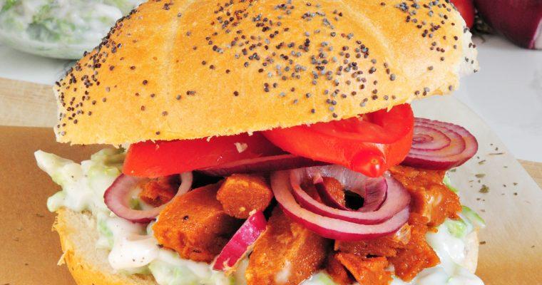 Burgery z bezmięsnym kebabem i colesławem