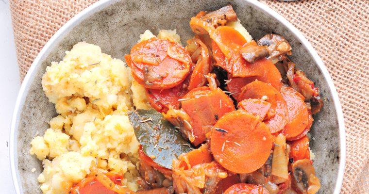 Wegańskie bourguignon z grzybami