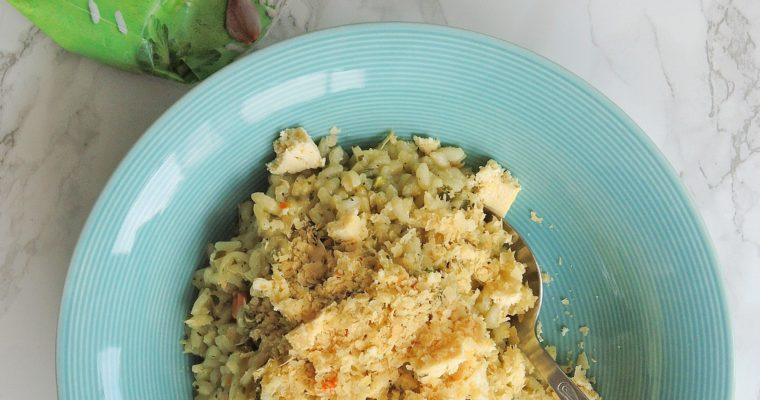 Wegańskie risotto ze szparagami i miętą